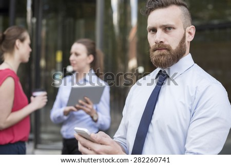 Nothing is impossible for my business team - stock photo