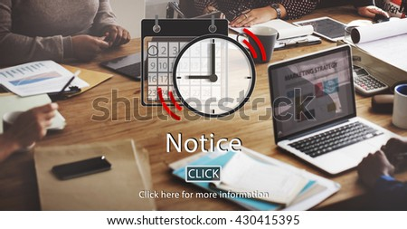 Notice Appointment  List Organizer Plan Reminder Concept - stock photo