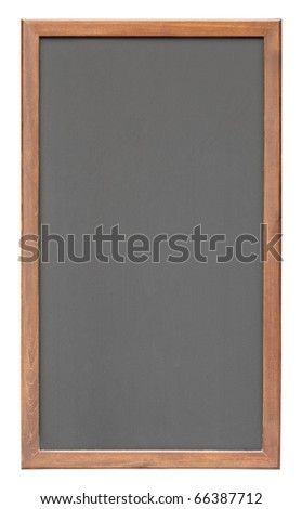 Notice black board isolated on white background - stock photo