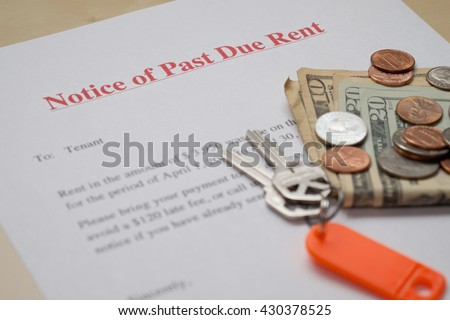past due rent notice template
