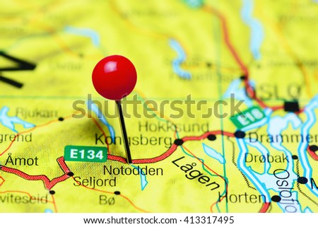 Sekkemo Pinned On Map Norway Stock Photo 415971988 Shutterstock
