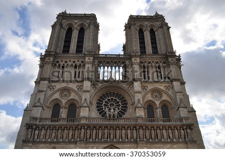 Notre Dame Cathedral in Paris.