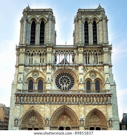 Notre Dame Cathedral in Paris - stock photo