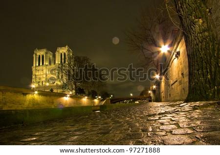 Notre Dame Cathedral - Paris - stock photo