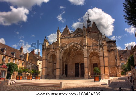 Notre Dame Church at Beaune, Burgundy - France - stock photo