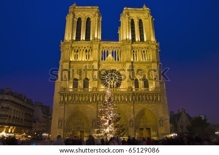 Notre Dame church located at Paris, France