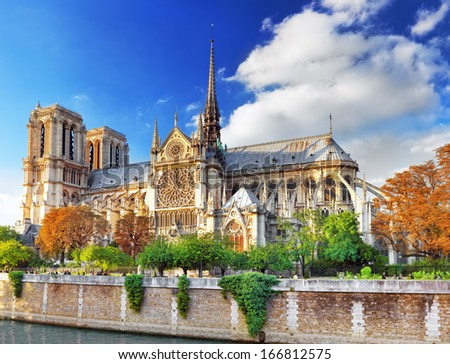 Notre Dame de Paris Cathedral.Paris. France - stock photo