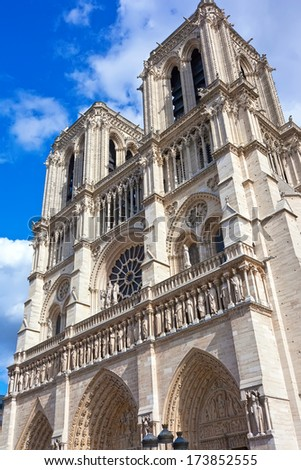 Notre Dame de Paris, famous cathedral in France
