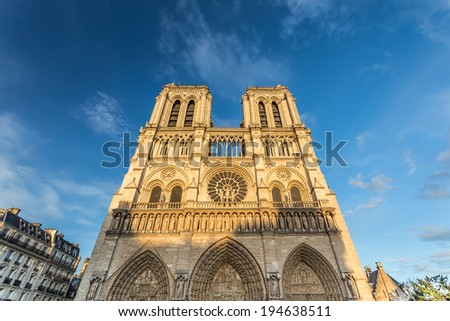 Notre Dame de Paris, France - stock photo