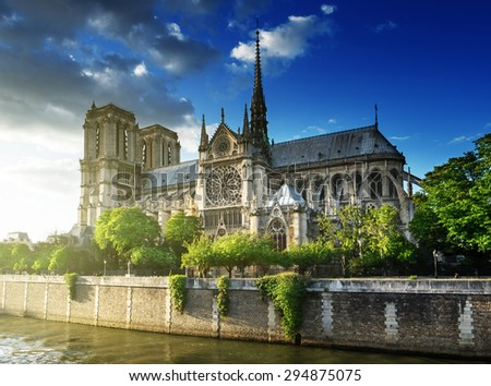 Notre Dame de Paris, France - stock photo