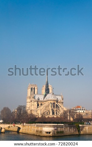 Notre Dame de Paris (French for Our Lady of Paris) - stock photo