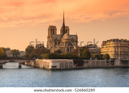 "Notre-Dame de Paris (French for ""Our Lady of Paris"") is a medieval Catholic cathedral on the Cite Island in Paris, France"