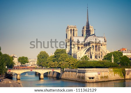 Notre Dame de Paris, Paris, France - stock photo