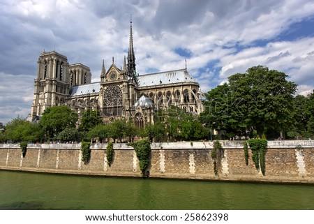 Notre Dame de Paris, Paris, France - stock photo