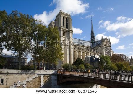 Notre Dame de Paris. Paris, France - stock photo