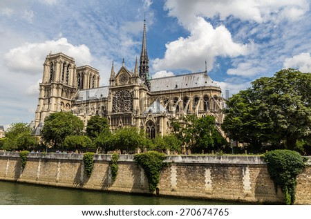 Notre Dame in Paris - stock photo