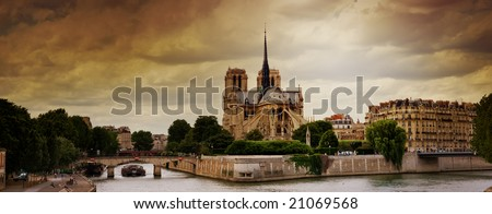 notre dame - paris - stock photo