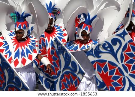 Notting Hill Carnival, London, England - stock photo