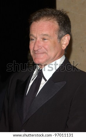Nov 12, 2004; Beverly Hills, CA: Actor/comedian ROBIN WILLIAMS at the 19th Annual American Cinematheque Award Gala honoring Steve Martin at the Beverly Hilton Hotel, Beverly Hills, CA. - stock photo