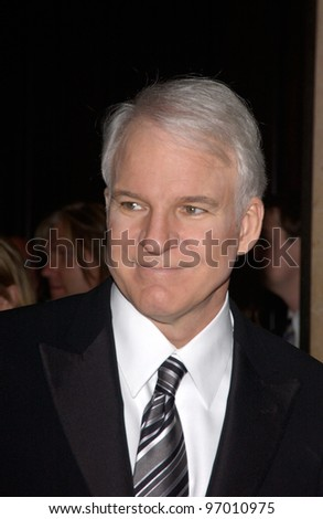 Nov 12, 2004; Beverly Hills, CA: Actor STEVE MARTIN at the 19th Annual American Cinematheque Award Gala at the Beverly Hilton Hotel, Beverly Hills, CA., where he was the honoree. - stock photo