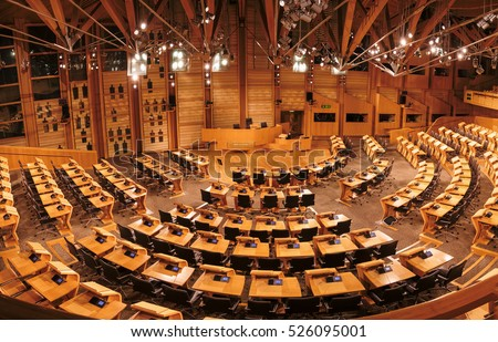 NOV. - 2016_The Debating Chamber of The Scottish Parliament. Edinburgh, UK