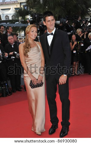 "Novak Djokovic & Jelena Ristic at the gala premiere of ""The Beaver"" in competition at the 64th Festival de Cannes. May 17, 2011  Cannes, France Picture: Paul Smith / Featureflash"