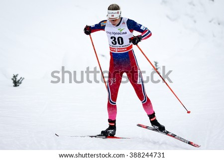Nove Mesto na Morave, Czech Republic - January 23, 2016: FIS Cross Country World Cup, women distance 10km competition. JACOBSEN Astrid Uhrenholdt (30)