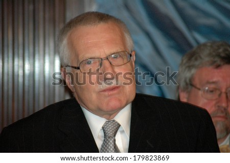 NOVEMBER 19, 2004 - BERLIN: Czech Prime Minister Vaclav Klaus during a reception in Berlin. - stock photo