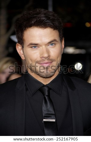 "NOVEMBER 14: Kellan Lutz at the Los Angeles Premiere of ""The Twilight Saga: Breaking Dawn Part 1"" held at the Nokia Theatre L.A. Live in Los Angeles, USA on November 14, 2011. - stock photo"