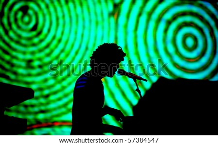 NOVI SAD, SERBIA - JULY 8: Mika performing on the Best European Music Festival - EXIT 2010, on July 8, 2010 in the Petrovaradin Fortress in Novi Sad. - stock photo