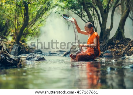 Novice Monk in Thailand.