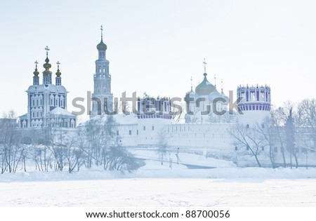 Novodevichiy convent in Moscow. Russia - stock photo
