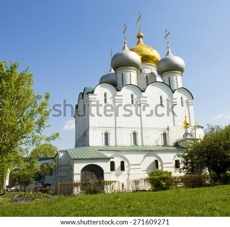 Novodevichy monastery in Moscow, Russia. - stock photo