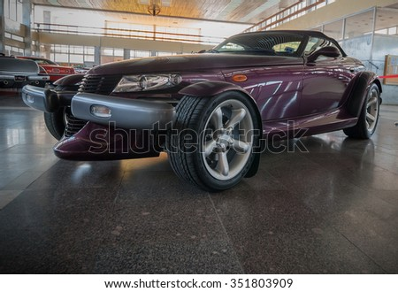 NOVOROSSIYSK, RUSSIA - JULY 19, 2009:  Plymouth Prowler  car at the exhibition in Novorossiysk, Russia - stock photo