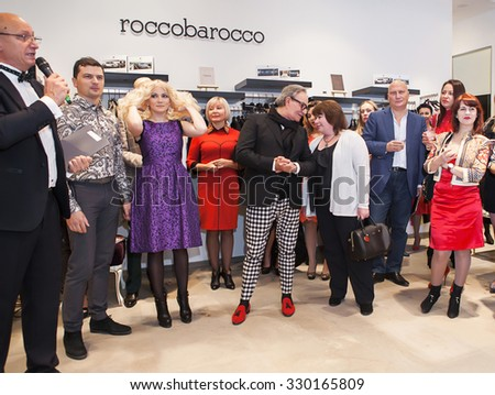 NOVOSIBIRSK, RUSSIA - october 1:Fashion designer Rocco Barocco at the opening ceremony on the opening day of the first mono-brand store in Russia. ROCCO BAROCCO, october 1, 2015 Novosibirsk, Russia