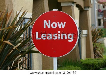 Now Leasing - stock photo