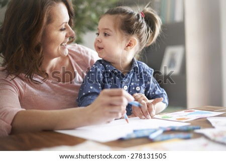 Now let's draw big tree! - stock photo