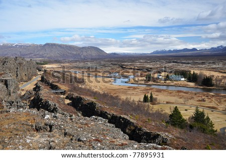 NP Thingvellir, the oldest parliament in the world, Iceland
