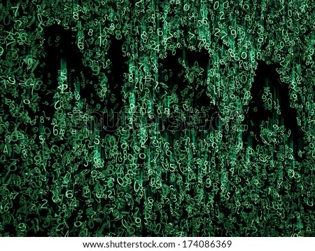 NSA data code in green - stock photo