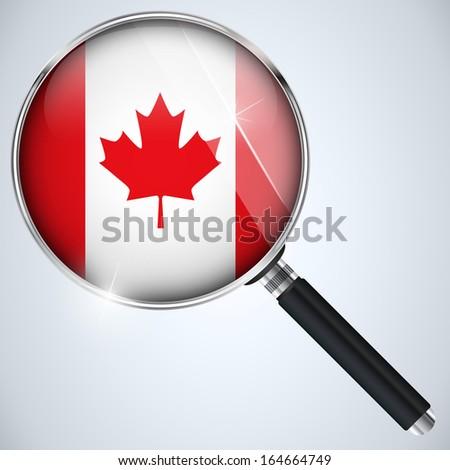 NSA USA Government Spy Program Country Canada - stock photo