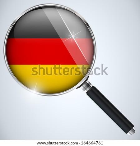 NSA USA Government Spy Program Country Germany - stock photo