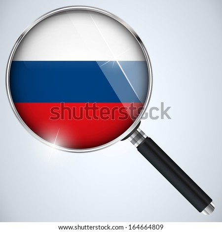 NSA USA Government Spy Program Country Russia - stock photo