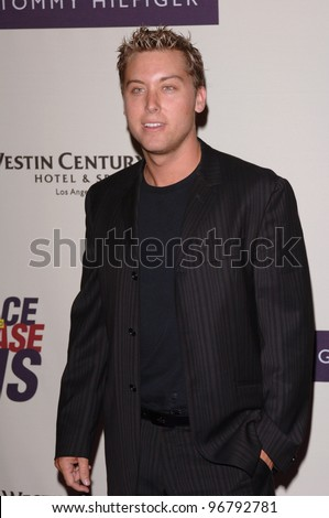 """NSync star LANCE BASS at the 12th Annual Race to Erase MS Gala themed """"Rock & Royalty to Erase MS"""" at the Century Plaza Hotel. April 22, 2005  Beverly Hills, CA.  2005 Paul Smith / Featureflash - stock photo"""
