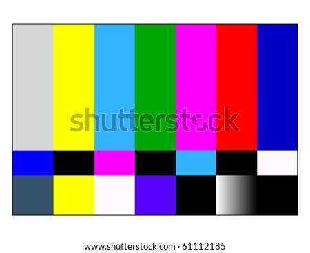 NTSC tv pattern signal for test purposes - stock photo