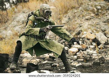 Nuclear apocalypse survivor - stock photo