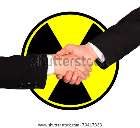 Nuclear business agreement - stock photo