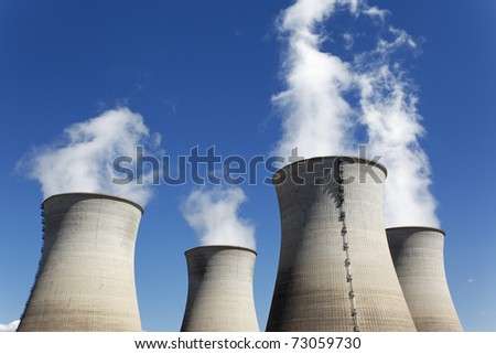 nuclear forest - stock photo