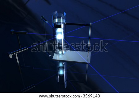 Nuclear fusion in test tube - stock photo