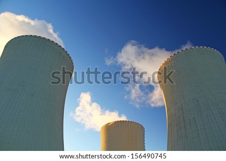 Nuclear plant Temelin / cooler towers - stock photo
