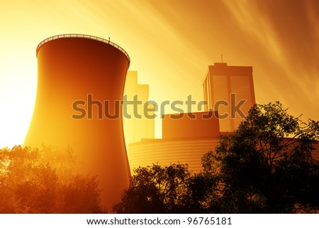 Nuclear Power Plant 01 3D render